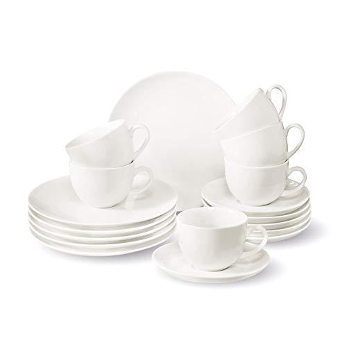 Villeroy & Boch Group Vivo New Fresh Basic Vajilla de café para 6 personas, 18 piezas, Porcelana Premium, Blanco