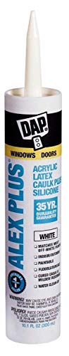 Dap 18152 12 Pack 10.1 oz. Alex Plus Acrylic Latex Caulk Plus Silicone, ()