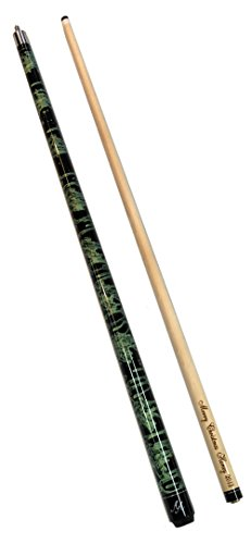 Alex Austin 2 Piece Green and Black Swirl Pool Cue with Custom Name Engraving (19) ()