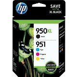2 X HP 950XL Black and 951 Color Ink Cartridges, C/M/Y, Combo Pack (In Retail Packing)
