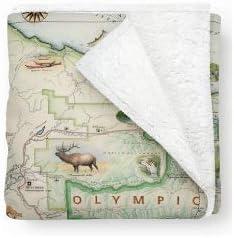 Olympic National Park Fleece Blanket