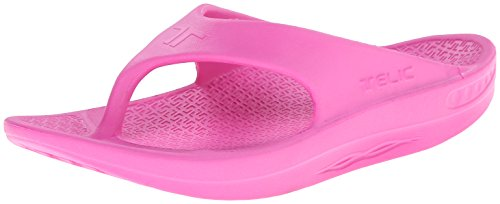 Telic Energy Flip Flop - Comfort Sandals for Men and Women, Pink Flamingo, Women's 5 / Men's 4]()