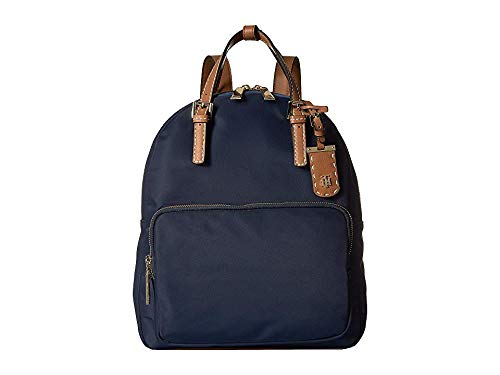 Tommy Hilfiger Women's Julia Double Handle Solid Nylon Backpack Tommy Navy One Size ()