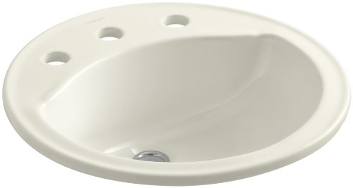 (STERLING 441908-96 Modesto 19-Inch by 19-Inch by 8-Inch Round Lavatory, Biscuit)