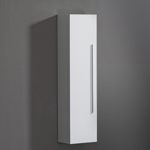 Bathroom Cabinet 1400x350 White Storage Wall Mounted Hung Side ...