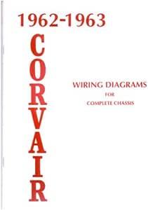 amazon.com: 1962 1963 chevrolet corvair wiring diagrams schematics:  automotive  amazon.com