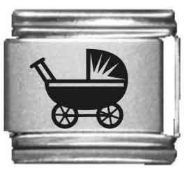 Baby Stroller Laser Italian Charm