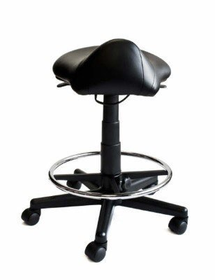 Saddle Stool with Foot Rest Ring by Idealsalons