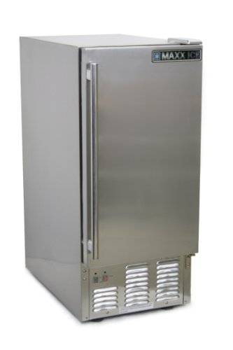 Maxx Ice MIM50-O Outdoor Self Contained Ice Maker, 50-Pound by Maxx Ice