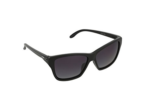 Oakley Women's Hold On OO9298-02 Polarized Cateye Sunglasses, Polished Black, 58 mm