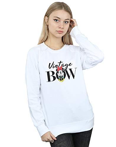 Bow Minnie Sweat Blanc Femme Vintage Disney Mouse shirt 5IRnA