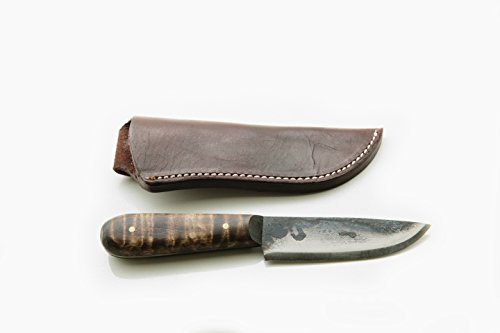 Jeff White 7 Inch French Trade Knife (Curly Maple w/ Sheath) For Sale