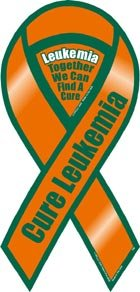 Cure Leukemia Awareness 2 in 1 Ribbon Magnet