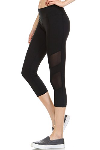 Athletic Stretch Leggings Featuring Mesh Paneled