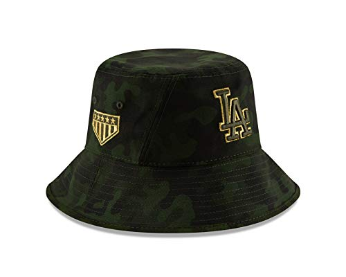 New Era Los Angles Dodgers 2019 MLB Armed Forces Day Bucket Hat - Camo