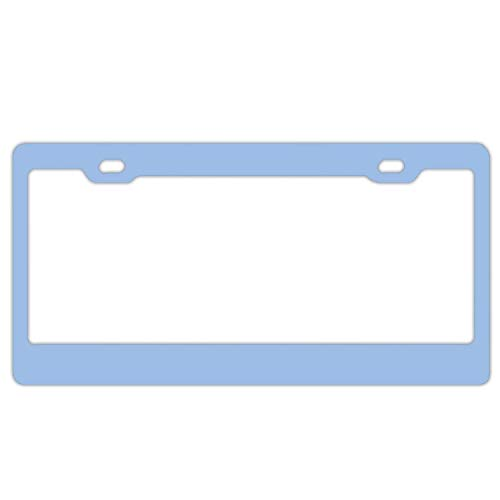 Feddiy License Plate Frames, Cool YouTube Channel Art Stainless Steel Car Licence Plate Covers