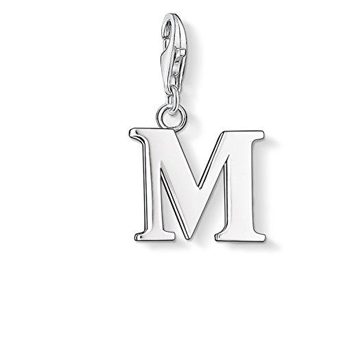 Thomas Sabo Damen-Charm-Anhänger M Buchstabe Charm Club 925 Sterling Silber 0187-001-12