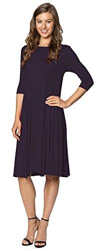 f4613a0c9a7 Velucci Womens Stylish A-Line Trapeze Midi Dress A-Line Dress by