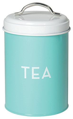 Now Designs Tea Tin, Turquoise (Kitchen Tin Storage)
