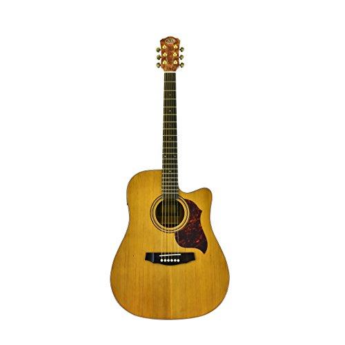 J&D Acoustic Electric Guitar, Solid Cedar Top, Bubinga Back & Sides, Natural Matte Finish, On-Board ()