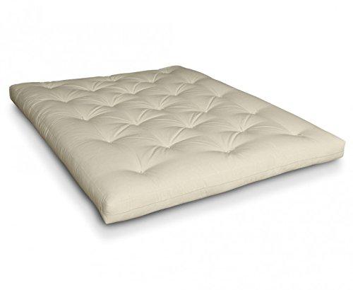 Futon Kasukabe Futonmatratze mit Latex, Rosshaar, Schafwolle von Futononline, Größe:160 x 200 cm, Color Futon SE Amazon:Natur/Filz weiß