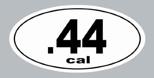 .44 Cal Gun Decal Rights Funny Bumper Sticker Oval Car Truck Window Hand Rifle Sniper Pistal