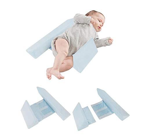 Baby Shaping Kissen Anti-Rollover Seite Schlafkissen Dreieck Baby Positionierungs kissen Herausnehmbare und waschbare Milch gegen Erbrechen Geeignet f/ür Babys von 3 Monaten bis 3 Jahren Blau