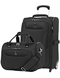 Luggage Maxlite 5 | 2-Piece Set | Soft Tote and 22-Inch Rollaboard (Black)