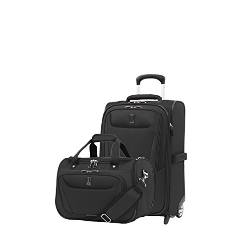 - Travelpro Luggage Maxlite 5 | 2-Piece Set | Soft Tote and 22-Inch Rollaboard (Black)