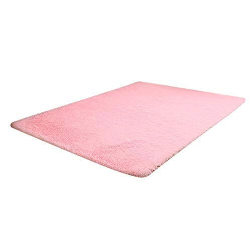 Unpara 2018 Winter Rectangle Fluffy Rugs Shaggy Area Carpet Dining Room Home Bedroom Floor Mat, 63''x24'' (Pink) by Unpara_Rug