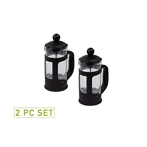 Mind Reader Single Serve French Press Coffee & Tea Maker, 2 Pack, Glass