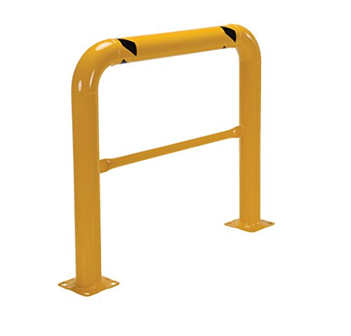 Vestil HPRO-48-42-4 Yellow Powder Coat High Profile Machinery Guard, Welded Steel, 4-1/2'' OD, 48'' Length, 42'' Height by Vestil