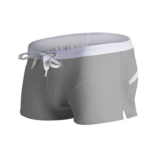 Pantaloni Causale Oliviavan Trunks Pantaloncini Estiva Grigio Elasticizzata Plus Swimwear Vita Da Spiaggia NuotoPiscina Dimensioni Acqua Tasche kwN8n0OXP