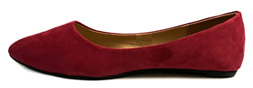 Loafer Shoes8teen Flats Faux 3 Smoking Womens Micro Suede Colors 8800 Shoes Burgundy qtTOrtw
