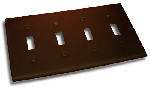 Residential Essentials 10842VB Quadruple Toggle Switch Plate, Venetian Bronze (Lamp Venetian Wall)