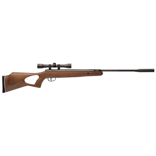 Benjamin BW8M22NP Titan NP Wood Stock Nitro Piston Hunting Air Rifle with 4x32 Scope (.22-Caliber) ()