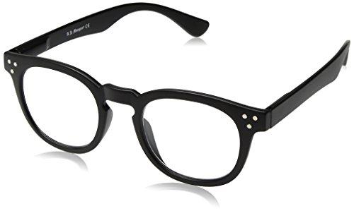 A J  Morgan Unisex Adult Cause   Power 1 25 40154A Square Reading Glasses  Matte Black  1 25