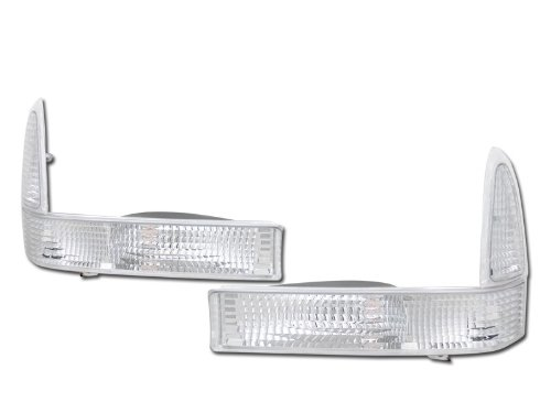 Velocity Concepts Crystal Clear Signal Bumper Corner Lights Lamps K2 99//00-04 for Ford F250 Excursion