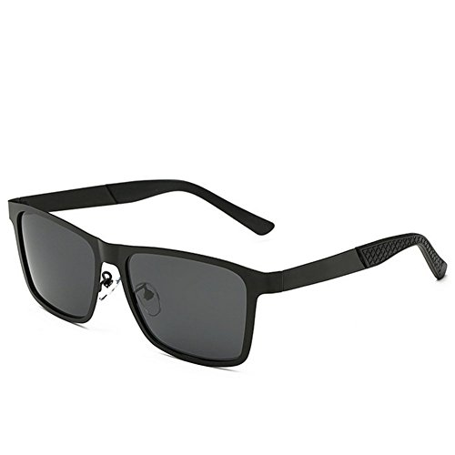 A-Roval Men Polarized Rectangular Large Fashion Metal - Wholesale Bridge Golden Sunglasses
