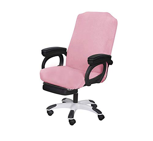 SARAFLORA Pink Office Chair Covers Stretch Washable Computer Chair Slipcovers for Universal Rotating Boss Chair Middle Size