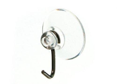 SUCTION SUCKER WINDOW HOOKS CLEAR WIRE HOOK 19MM ( ) by ONESTOPDIY.COM