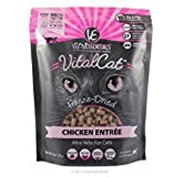 Vital Essentials Freeze-Dried Chicken Mini Nibs Cat Entree 12 Ounce Bag, A Taste Your Cats Will Love ( Fast Free Delivery )
