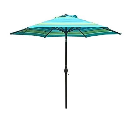 Amazon Com Abba Patio 7 1 2 Ft Round Market Patio Umbrella With