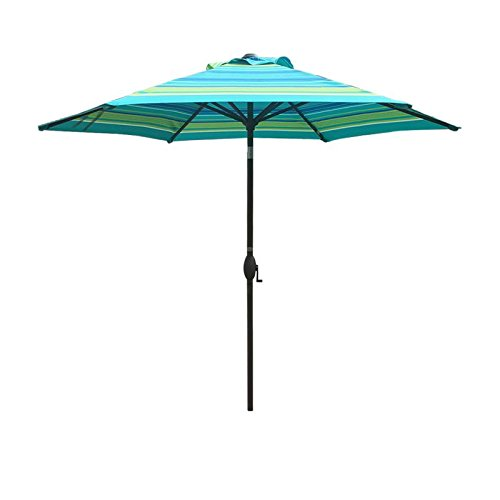 Abba Patio 7-1/2 ft. Round Market Patio Umbrella with Push Button Tilt and Crank Lift