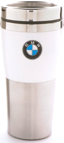 BMW Genuine Insulated Travel Mug with White Band OEM