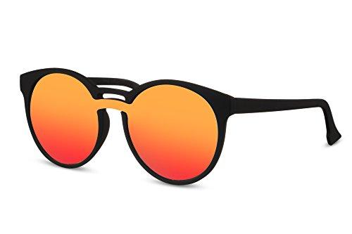Hommes 023 Sunglasses Lunettes Noir Rétro Ca Femmes Miroitant Connaisseur Cheapass Rondes Brun TzcPxRqPBw