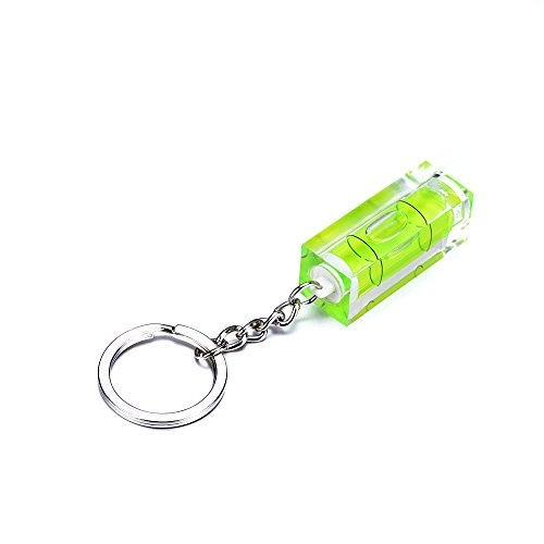 - 1PCS mini Green Color 15x15x40mm Acrylic Square Spirit Level With Key ring