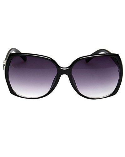 UV400 ShaBlack Lente de MissFox Sol Moda única Talla Sunglasses Deportivas Mujer Retro Gafas wwq8FUH