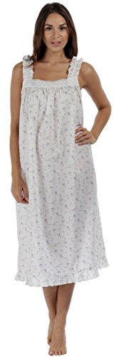 - The 1 for U 100% Cotton Sleeveless Nightgown 7 Sizes - Jane (Medium, Lilac)