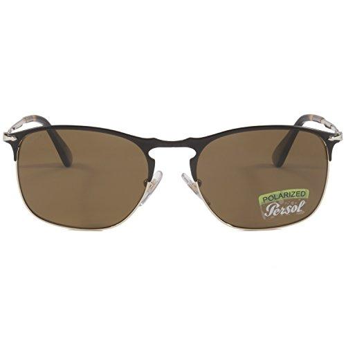 Persol Mens Sunglasses Black/Brown Metal - Polarized - - Aviator Polarized Persol